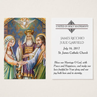 Personalized Wedding Favor Bride Groom Holy Cards