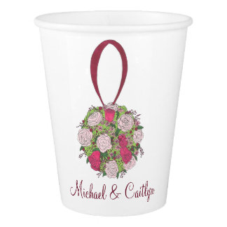Personalized Wedding Flower Bouquet Floral Cups