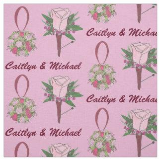 Personalized Wedding Flower Bride Groom Fabric
