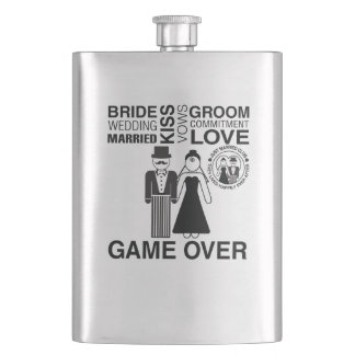Personalized Wedding Gift Bride Groom Flask Gift