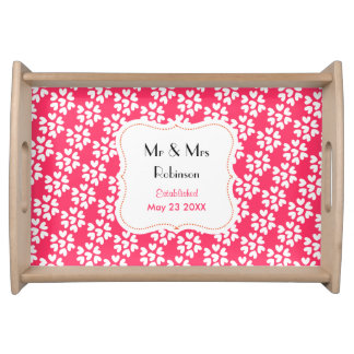Personalized Wedding Gift Ditsy Hearts Tray