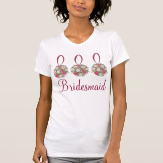 Personalized Wedding Party Bouquet Bridesmaid Tee