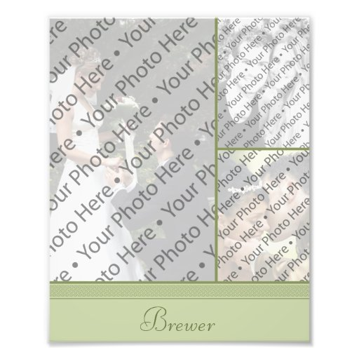 Personalized Wedding Photo Collage w/ Custom Text Photo Print
