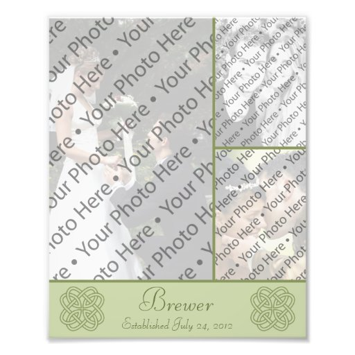 Personalized Wedding Photo Collage w/ Custom Text Photo Art