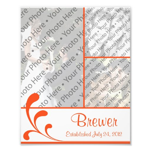 Personalized Wedding Photo Collage w/ Custom Text Photographic Print