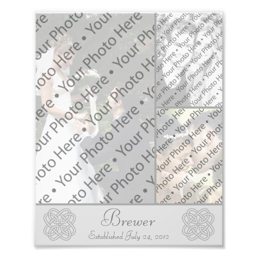 Personalized Wedding Photo Collage w/ Custom Text Photograph