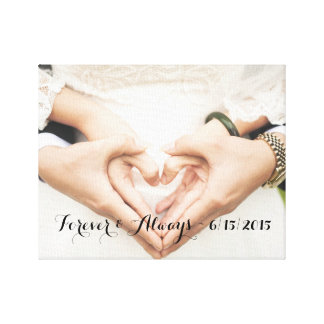 Personalized Wedding Photo Forever & Always Gallery Wrapped Canvas