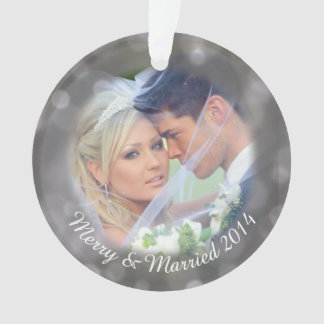 Personalized Wedding Photo Holiday Ornament
