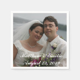 Personalized Wedding Photo Napkins Disposable Serviettes