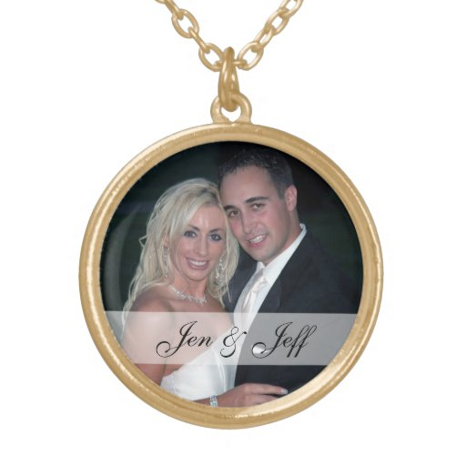 Personalized Wedding Photo Necklace