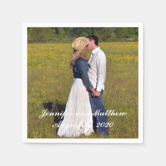 Personalized Wedding Photo Paper Napkins Paper Napkin