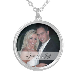 Personalized Wedding Photo Silver Plated Necklace