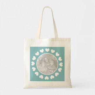 Personalized wedding photo tote bag with picture