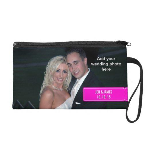 Personalized WEDDING Photo Wristlet
