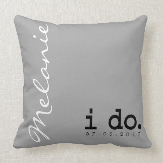 Personalized Wedding Pillow -  I do. Me too.