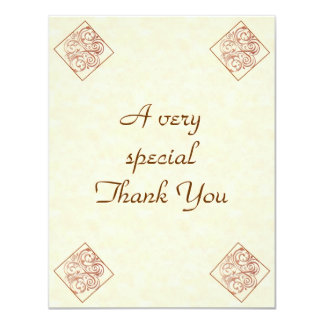Personalized Wedding Thank You cards 2 sided 11 Cm X 14 Cm Invitation Card