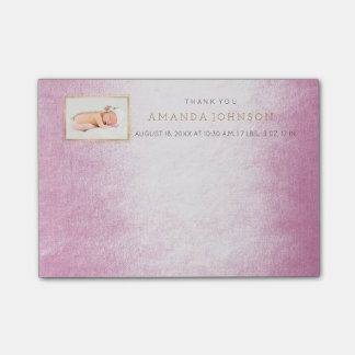 Personalized Wedding Thank You Gift Favor Post-it Notes