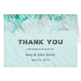 Personalized wedding thank you note card
