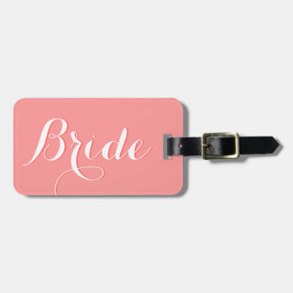 Personalized wedding travel luggage tag for bride