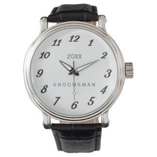 Personalized Wedding Year Classic Groomsman Watch