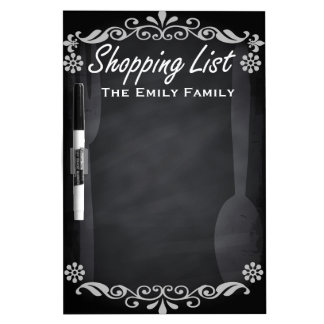 Personalized Weekly Shopinglist Blackboard Chalk