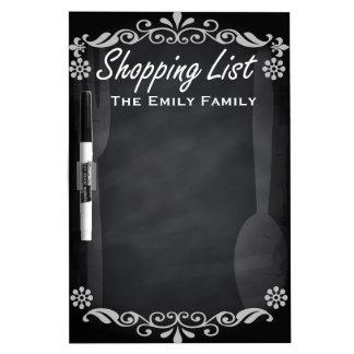 Personalized Weekly Shopinglist Blackboard Chalk Dry Erase Whiteboards