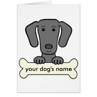 Personalized Weimaraner Card