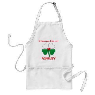 Personalized Welsh Kiss Me I'm Ashley Standard Apron