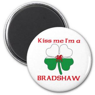 Personalized Welsh Kiss Me I'm Bradshaw 6 Cm Round Magnet