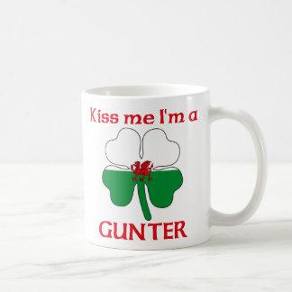 Personalized Welsh Kiss Me I'm Gunter Mugs