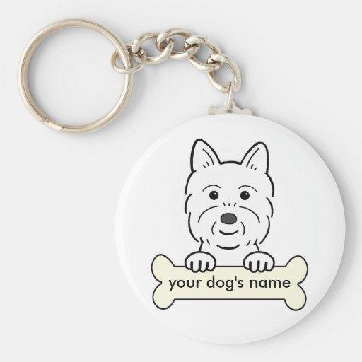 Personalized Westie Key Chains