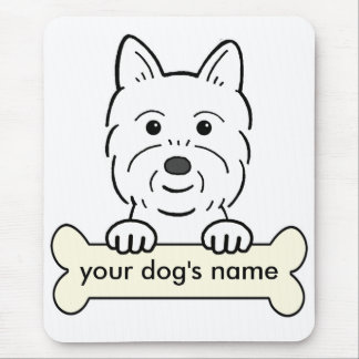 Personalized Westie Mouse Mat