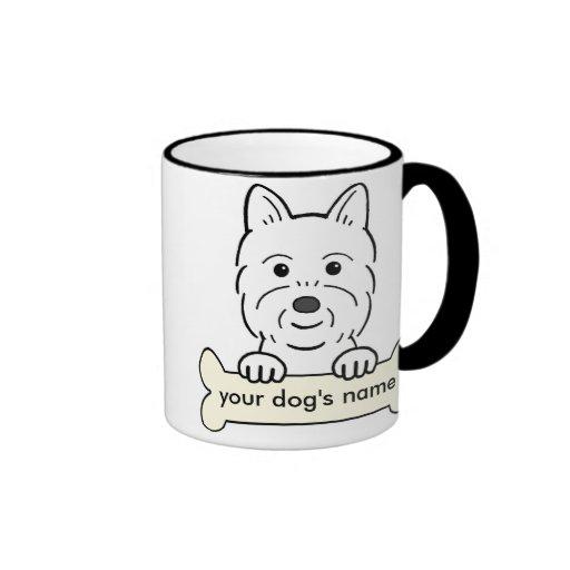 Personalized Westie Coffee Mugs