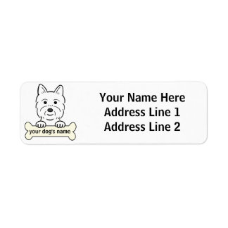 Personalized Westie Return Address Label