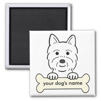 Personalized Westie Square Magnet