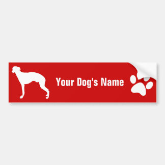 Personalized Whippet ウィペット Bumper Sticker
