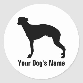 Personalized Whippet ウィペット Round Sticker