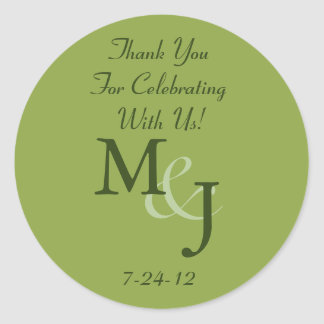 Personalized White Daisy Wedding Favor Labels Round Sticker