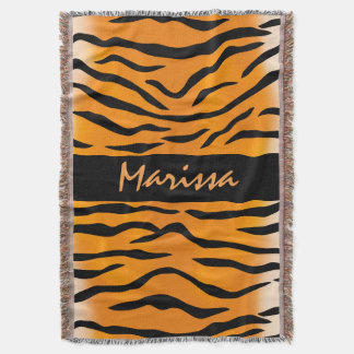 Personalized Wild Thing Tiger Stripes Throw Blanket