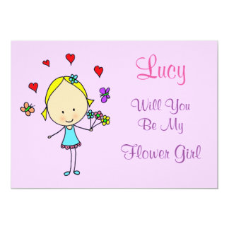 Personalized Will You Be My Flower Girl Card