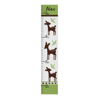 Personalized Willow Deer Family Chart Poster