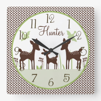 Personalized Willow Deer Family Clock