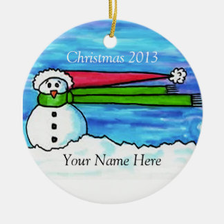 Personalized Windy Snowman Christmas Ornament