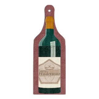 Personalized Wine Bottle Cutting Board