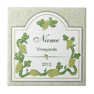 Personalized Wine Label Tile Trivet