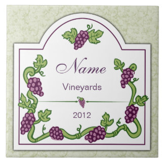 Personalized Wine Large Tile Trivet