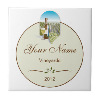 Personalized Wine Tile Trivet