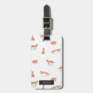 Personalized | Winter Fox Luggage Tag