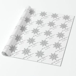 Personalized Winter Snowflake Wedding Gift Wrap Wrapping Paper