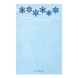 Personalized Winter Snowflakes Stationery